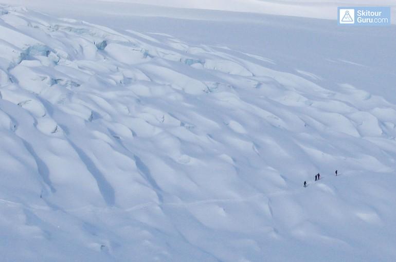 Na lyžích po ledovci