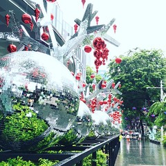 In the holiday spirit with a disco twist on Orchard Rd. in Singapore