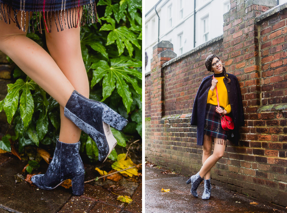 blue suede heeled boots asos