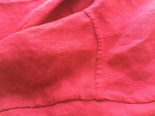 Sewing Red Hose