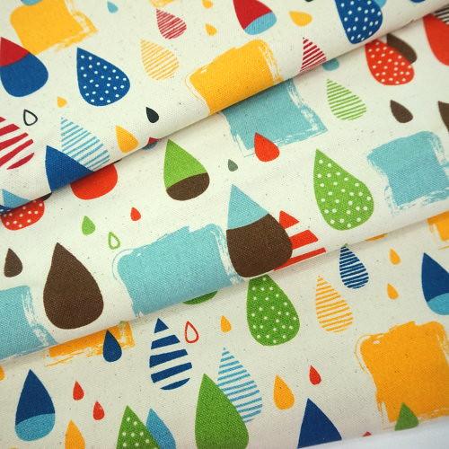 原-雨滴 厚質純棉印花帆布 酒袋布 手工藝DIy拼布布料 CA790068
