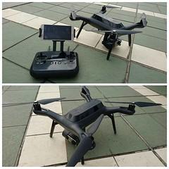 """Kesan pertama: warna item wahana dan remotenya cool banget, bentuknya juga keliatan futuristik. Tipikal drone yg begitu ngeliat orang akan bilang """"wooo...""""  #3dr #3DRsolo #drone #gopro #goprohero4 #quadcopter"""
