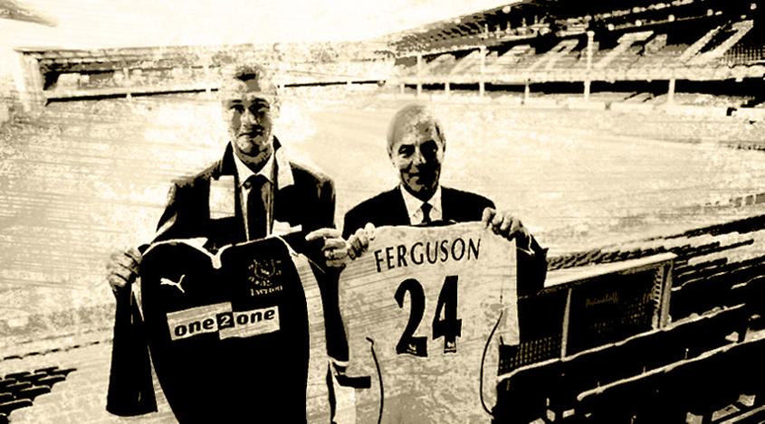 Duncan Ferguson Signs For Everton