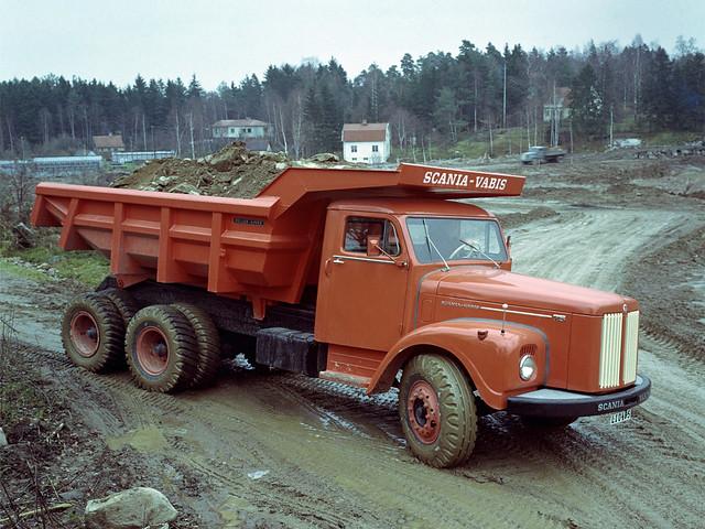 Самосвал Scania-Vabis LT75 Tandem-Drive 15-tonne Tipper. 1960 год