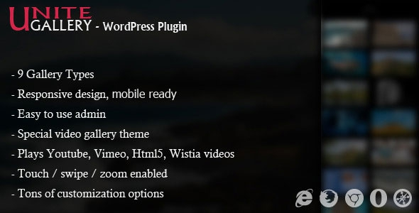 Codecanyon Unite Gallery v1.3.6 - Wordpress Plugin