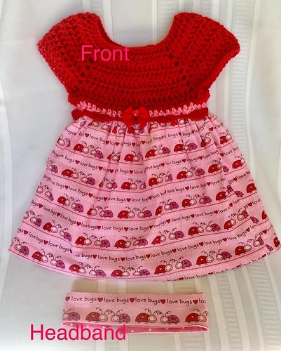 Baby Valentines Crochet dress