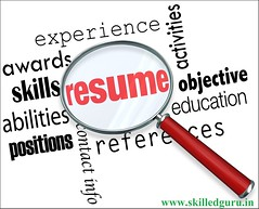 Resume Magnifying Glass Apply Job Experience Document