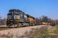 NS 9159 | GE C40-9W | BNSF River Subdivision
