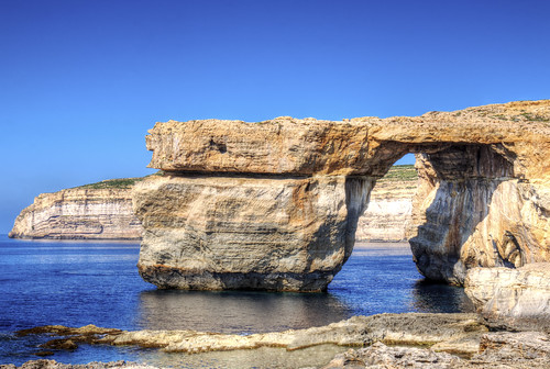 canon eos 70d digital color colorful nice malta sea azure blue sky window rock nature gozo island wonder collapse natural phenomena hdr mountain see destroyed gone view said travel tourism sad light reflection landmark