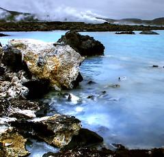 bláalónið - water steam and sulfur