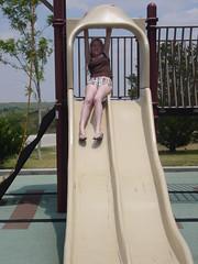 outdoor play equipment, play, leisure, playground slide, playground,