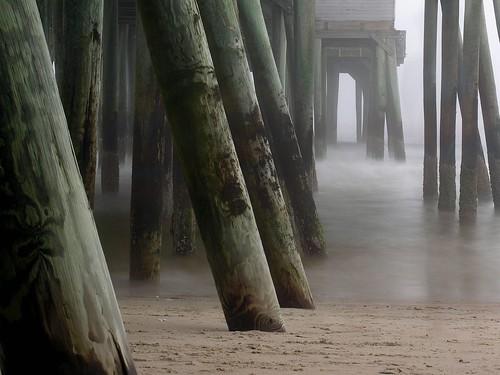ocean longexposure topf25 water fog pier sand topf50 500v20f listeningto maine oldorchardbeach nd400filter dotallisonafterglow utatabythesea