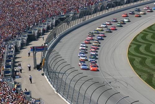 Start of Joliet NASCAR Race 2006 by Marty_Gr