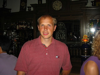 Me in the Long Bar at Raffles Hotel