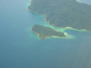 Pulau Sapi seen from the plane