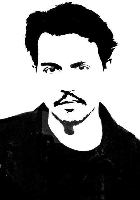 Stencils johnny depp 2 a photo on flickriver - Dessin johnny depp ...