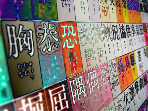 a kanji wall