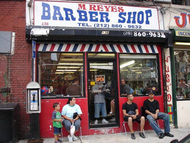 Barber Shop In Spanish : barber shop en el barrio spanish harlem By: paperocks a.k.a ...