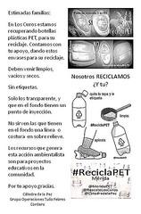 Campaña de Reciclaje de Plástico PET en Los Curos #Mérida