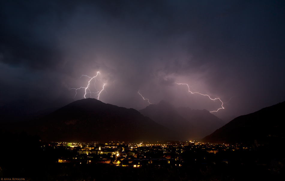 Thunderstorm in Lienz