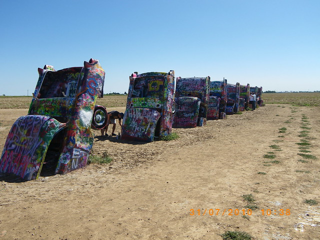 Route 66 Cadillac Ranch Texas USA 2010