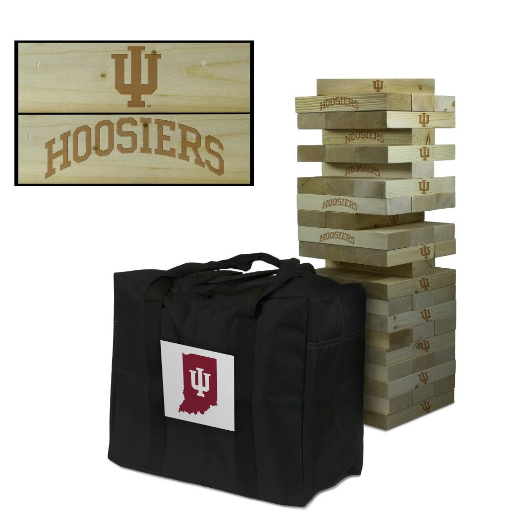 Indiana Hoosiers Wooden Tumble Tower Game