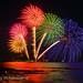 IMG11191_fireworks & lighthouse by m.hamajima
