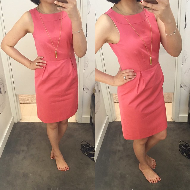 Ann Taylor Cotton Sateen Sheath Dress, size 0P