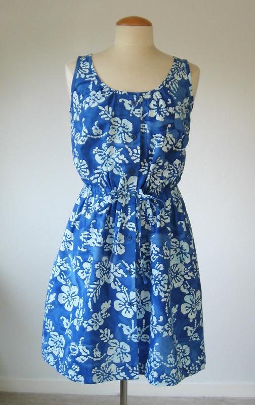 blue batik front on form