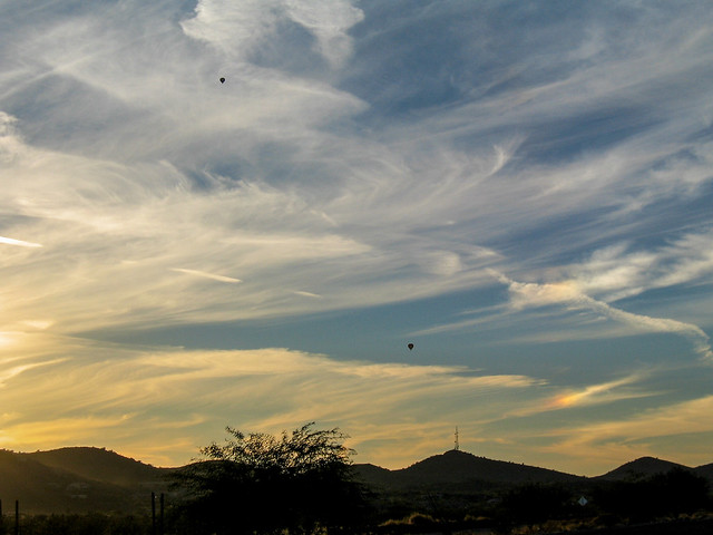 Two Hot Air Ballons in the Phoenix Sunset