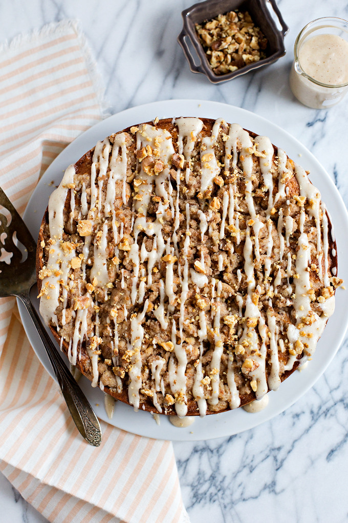 Brown Butter Walnut Crumb Cake