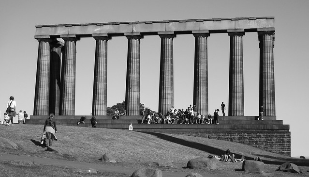 Calton Hill, bright autumn day 03