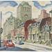 Rue Saint-Antoine et la gare Windsor - P825,S2,SS2_1954-1955_008 by Bibliothèque et Archives nationales du Québec