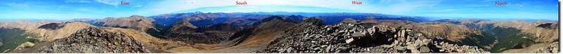 A 360° Panorama from the summit of Pettingell Peak