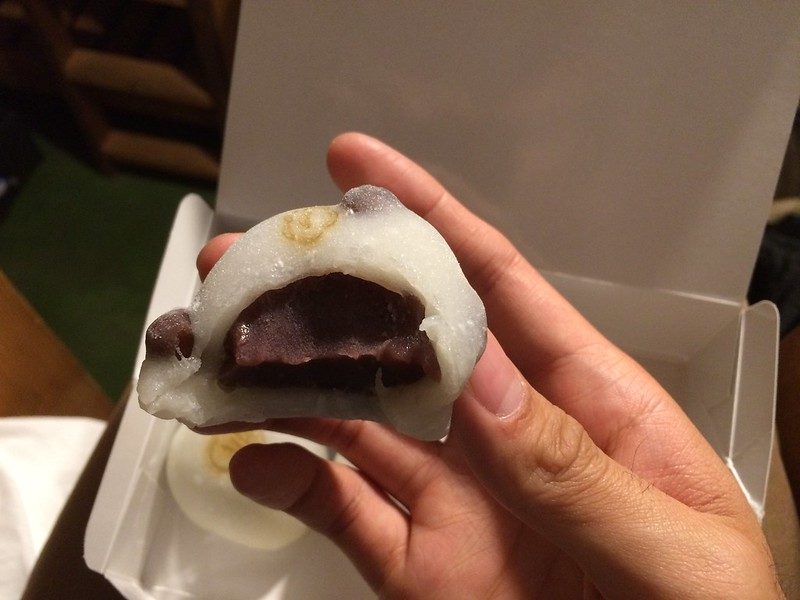 Ginza Akebono daifuku with red bean paste.