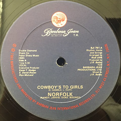 NORFOLK:COWBOY'S TO GIRLS(LABEL SIDE-A)