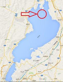 竹生島、map広域