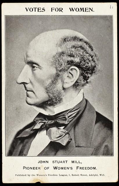 Postcard featuring John Stuart Mill,c. 1907.