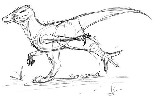 Draw Dinovember 11.7.15 - Stretch