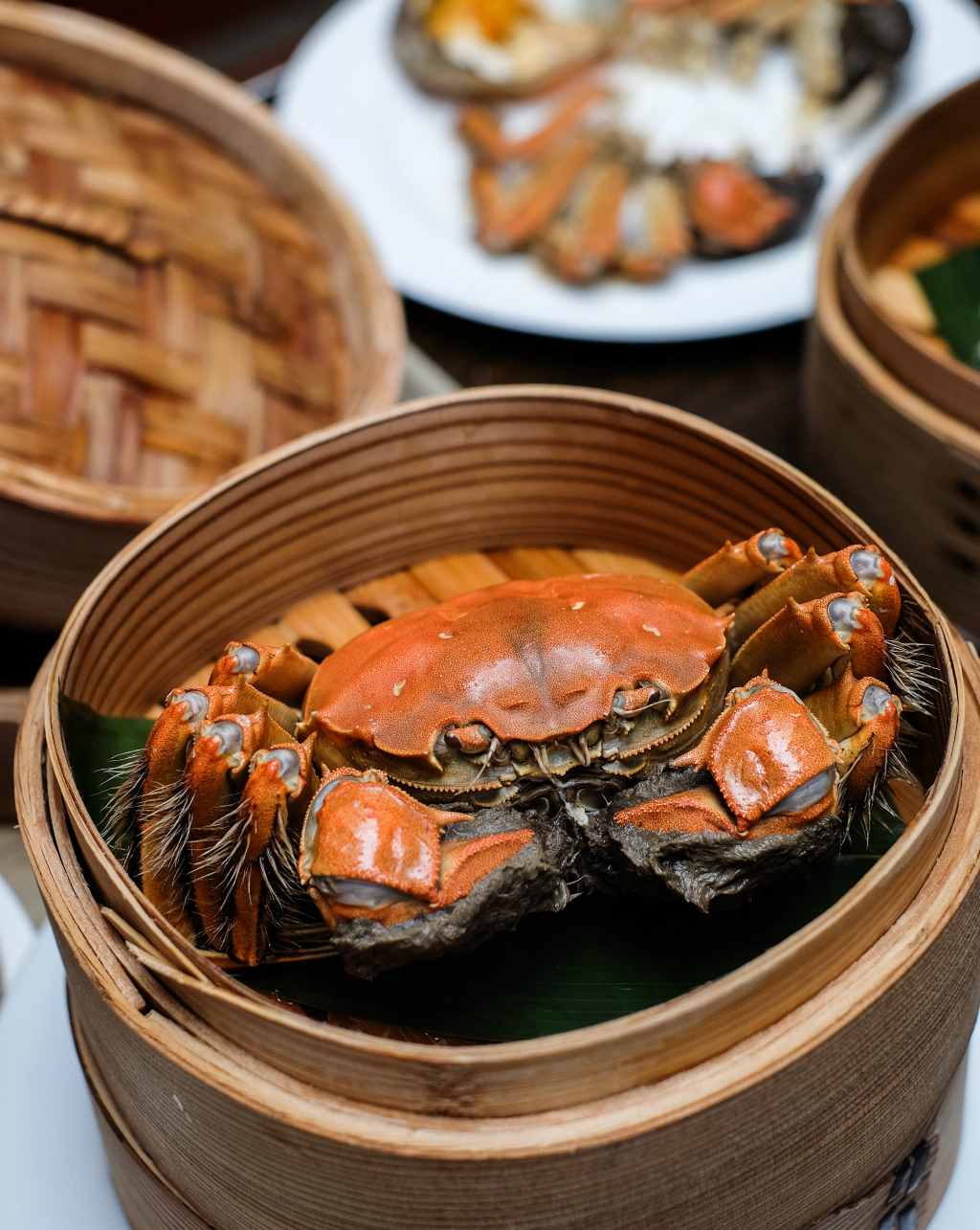 Szechuan Court & Kitchen: signature Steamed Whole Hairy Crab with Shiso Leaf
