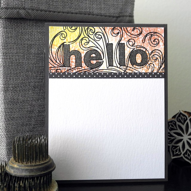 Hello by Jennifer Ingle #JustJingle #SimonSaysStamp #Altenew