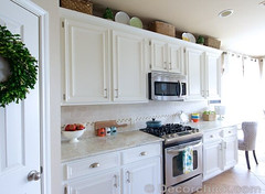 A kitchen painted in an Alabaster colour