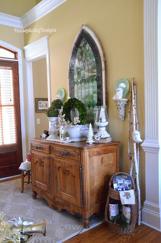Christmas 2015 Foyer/Antique French Buffet - Housepitality Designs
