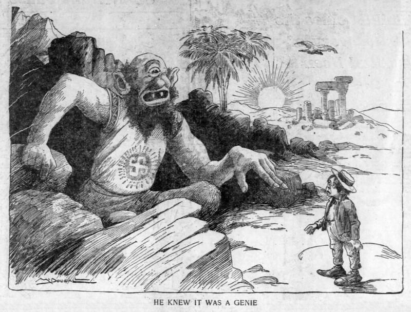 Walt McDougall - The Salt Lake herald., December 07, 1902, He Knew It Was A Genie