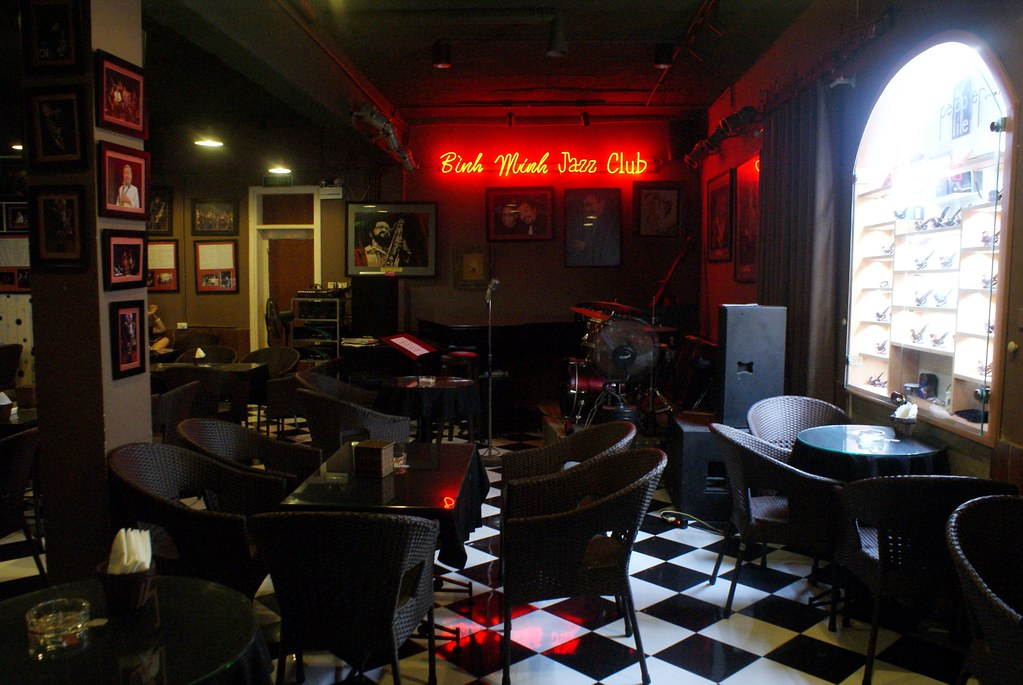 Le Binh Minh jazz club à Hanoi avant le concert.