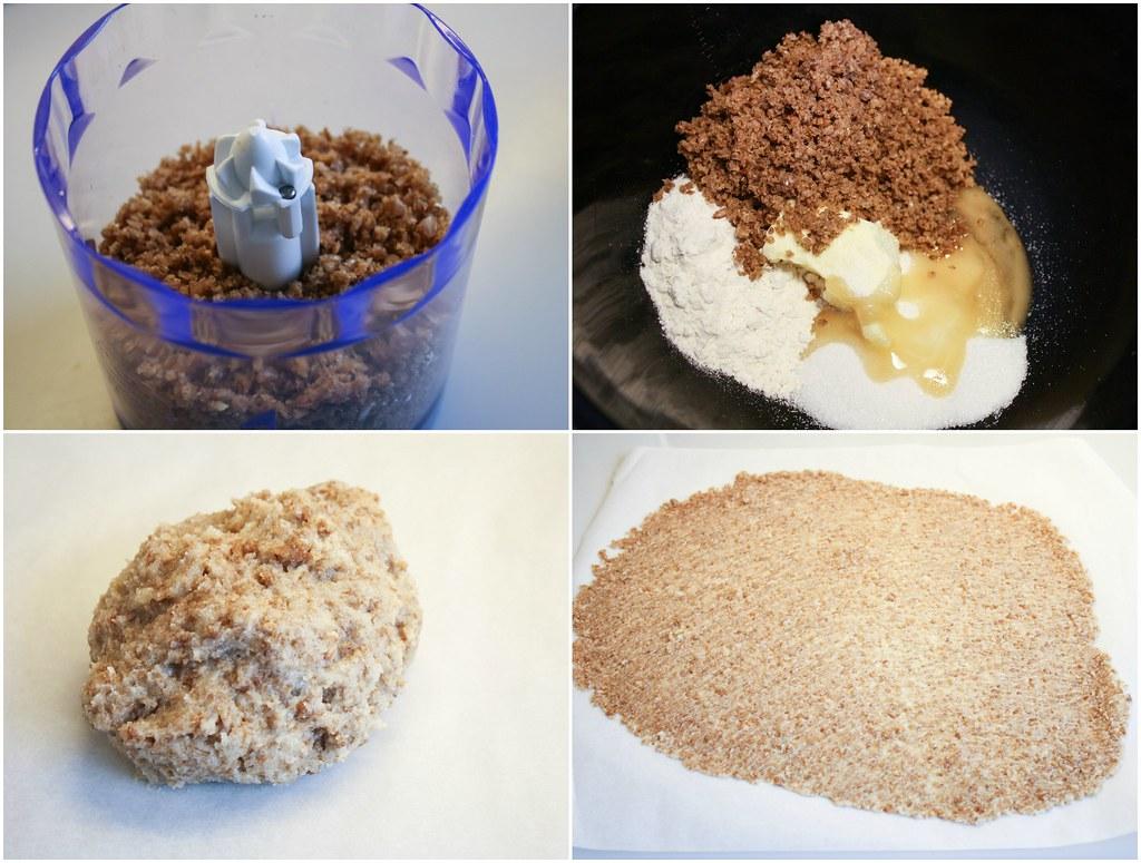 Opskrift på hjemmelavet Citronfromage med rugbrødstuille, valnøddekrokant, drænet yoghurt og citronmelissesukker