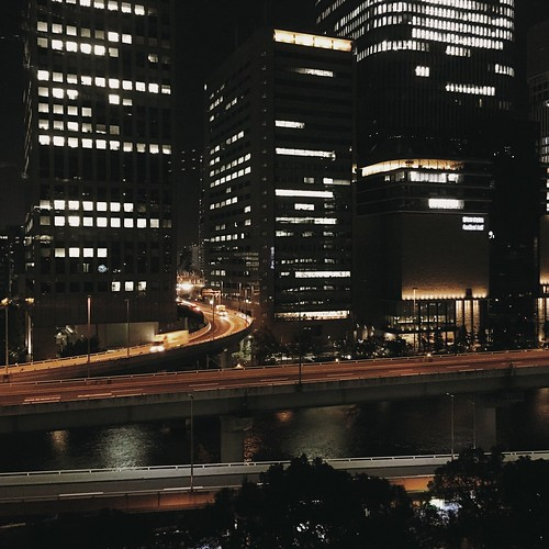 osaka at night.