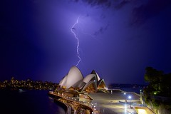 2016-12 December 09 Sydney Opera House Lightning Strike