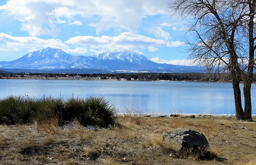 walsenburg lathropstatepark coloradoparkswildlife colorado martin lake clouds mountains mountain lathrop statepark water ice winter rural wetland spanishpeaks sangredecristo