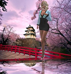 Kimono sky dress